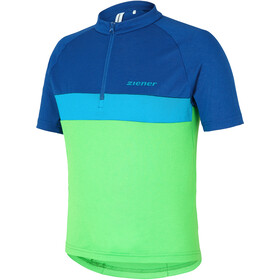 Ziener Caddour Bike Jersey Shortsleeve Children green/blue